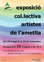 Exposició col·lectiva artistes de l'ametlla Festa Major 2017