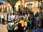 Concentració de suport a Jordi Cuixart i Jordi Sánchez i de condemna al seu empresonament a la plaça de l'Ajuntament