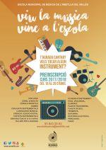 Preinscripció curs 2017/2018 de l'Escola Municipal de Música de l'Ametlla