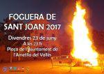 Encesa de la foguera de Sant Joan 2017
