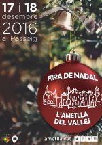 Cartell promocional de la Fira de Nadal de l'Ametlla del Vallès