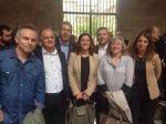 Andreu González, amb la presidenta de la Diputació de Barcelona i altres alcaldes i alcaldesses