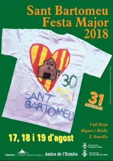 Cartell i programació Festa Major Sant Bartomeu
