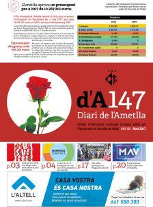 Portada Diari de l'Ametlla 147 abril 2017