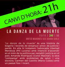 """La danza de la muerte"", a les 21h"