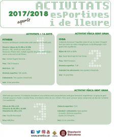 Activitats esportivesi de lleure 2017/2018