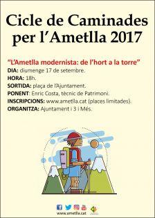 """Caminada """"L'Ametlla modernista: de l'hort a la vinya"""""""