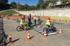 Sessió pràctica d'educació viària a l'Ametlla del Vallès