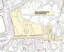 Àrea d'intervenció del futur centre cívic a la fàbrica Feliubadaló