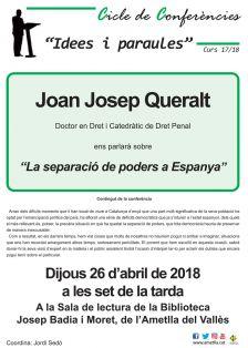 Xerrada de Joan Josep Queralt