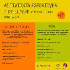 Activitats Esportives i de Lleure per a gent gran 2018-2019