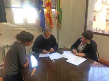 Signatura d'un conveni amb la Comissió de Carnaval