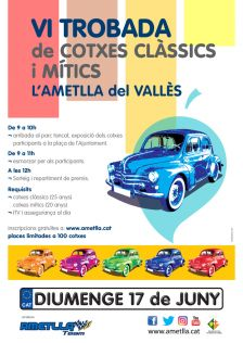 VI Trobada de Cotxes Clàssics i Mítics de l'Ametlla del Vallès