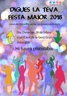 Digues la teva sobre la Festa Major 2018