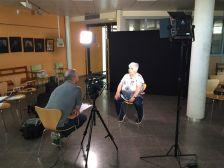 Gravació del documental sobre Franquisme i Transició