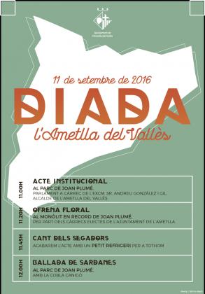 Actes institucionals de la Diada 2016