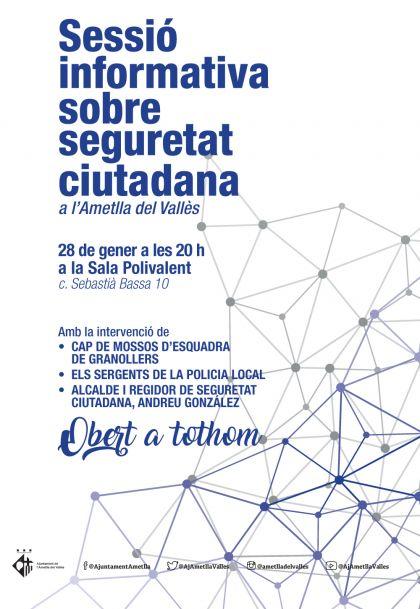 Sessió informativa sobre seguretat ciutadana a l'Ametlla del Vallès